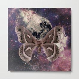 Moon Moth Metal Print