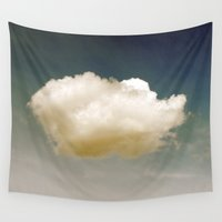 cloud Wall Tapestries featuring Cloud by Stone Twig Studio