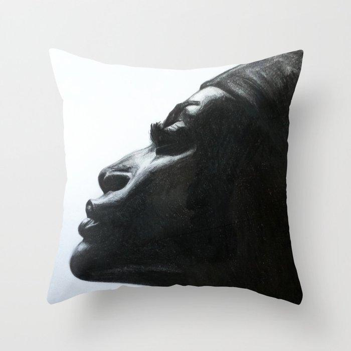 Black Woman Throw Pillow