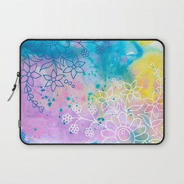 Watercolour abstract floral 4 Laptop Sleeve