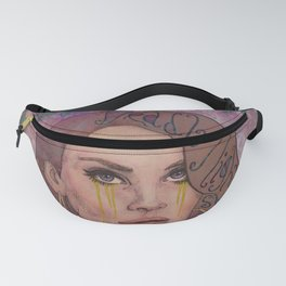 Lana - Deadly Nightshade Crying Tears Of Gold Fanny Pack
