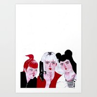 sci fi Art Prints featuring Feminist Sci Fi Heroines by psgsummers