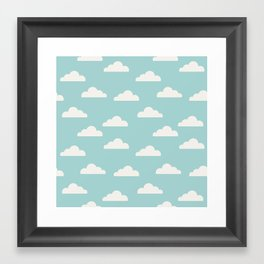 Clouds Framed Art Print