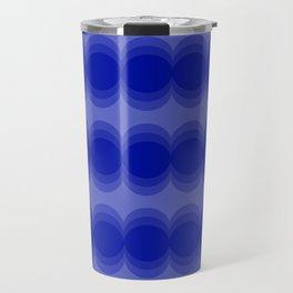 Four Shades of Blue Circles Travel Mug