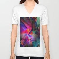 the big bang theory V-neck T-shirts featuring The Big Bang Theory by Robin Curtiss