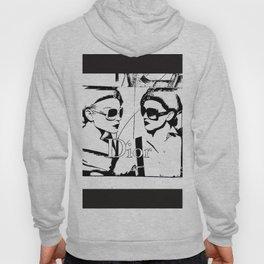 Sketched Fashion19 White on Black Hoody