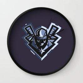 logo grey ninja Wall Clock
