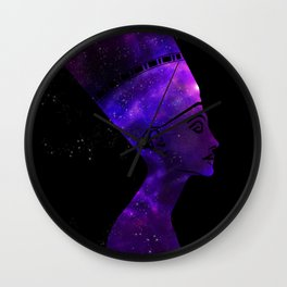 Queen Nefertiti Nebula Dark Stardust Wall Clock