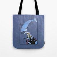 scuba Tote Bags featuring Scuba diver by Aquamarine Studio