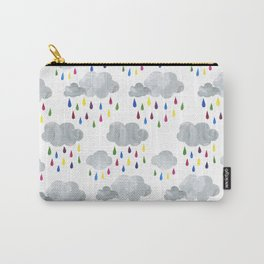 Rainbow Rain Clouds Carry-All Pouch
