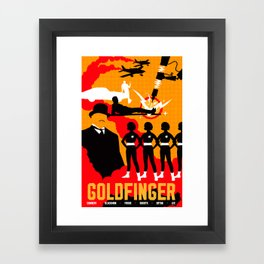 James Bond Golden Era Series :: Goldfinger Framed Art Print