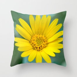 Floating marigold Throw Pillow