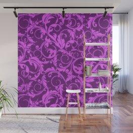 Vintage Swirls Winterberry Orchid Purple Wall Mural