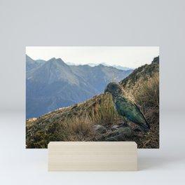 Curious Kea Mini Art Print
