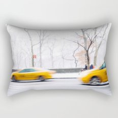 City Winter Rectangular Pillow