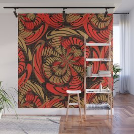 Decorative red and brown Wall Mural