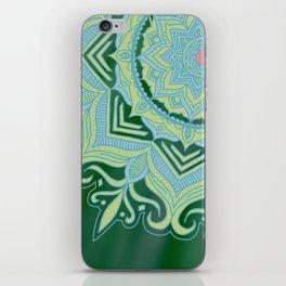 Green Swirl Mandala iPhone Skin