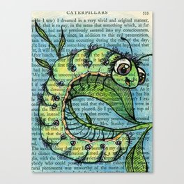 C is for Caterpillar Canvas Print