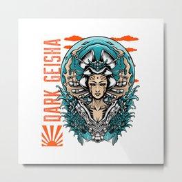 Dark Geisha Metal Print