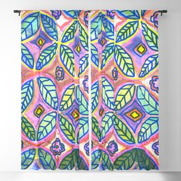 Flower handmade tiles Blackout Curtain