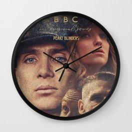 Peaky Blinders, Cillian Murphy, Thomas Shelby, BBC Tv series, Tom Hardy, Annabelle Wallis Wall Clock