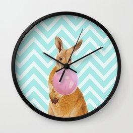 Bubble Gum - Kangaroo Wall Clock