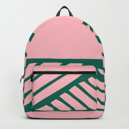 Boho Ethnic Pattern No 02 - Pink and Green Backpack