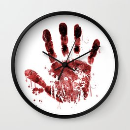 Zombie Handprint Wall Clock