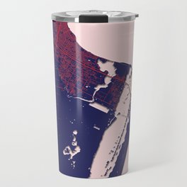 Corpus Christi, TX, USA, Blue, White, City, Map Travel Mug