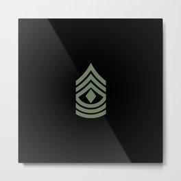 1st Sergeant (Green) Metal Print