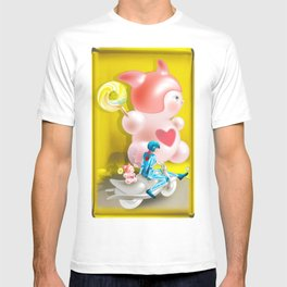 Time Bunny Girl and Love Robo T-shirt
