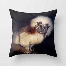 Cotton-top tamarin  Throw Pillow
