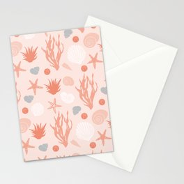 In the Sea - coral Stationery Cards