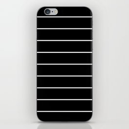 SKINNY STRIPE ((white on black)) iPhone Skin