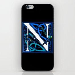 Celtic Peacocks Letter N iPhone Skin