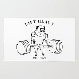 Lift Heavy Pug Rug