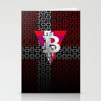denmark Stationery Cards featuring bitcoin denmark by seb mcnulty