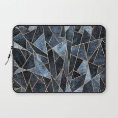 Shattered Soft Dark Blue Laptop Sleeve