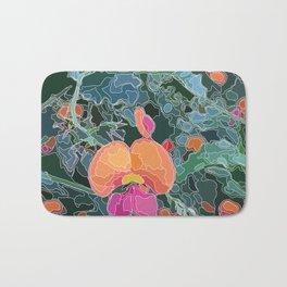 Coral Vine - Botanicals - Abstract Line Art Bath Mat