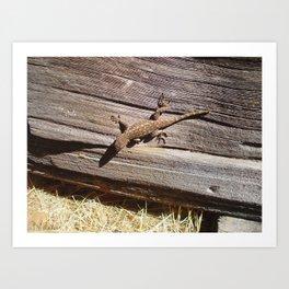 Lizard! Art Print