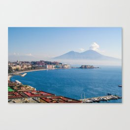 View of Naples Bay, Italy Canvas Print