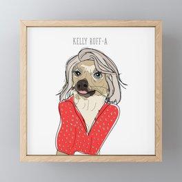 Celebrity Dogs-Kelly Ruff-A Framed Mini Art Print