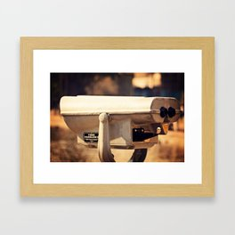 Lakeside Panoramic Visor Framed Art Print