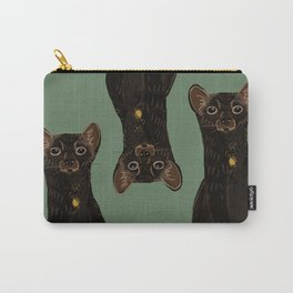Sable Marten in Green Carry-All Pouch