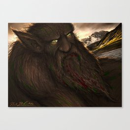 Grendel the Greedy Canvas Print