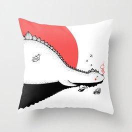 Sunset Dragon Throw Pillow