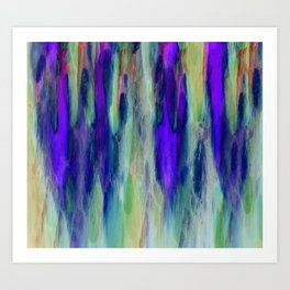 The Cavern in Shades of Purple and Green Art Print