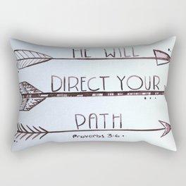 Proverbs 3:6 Rectangular Pillow