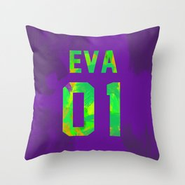 EVA-01 Revision Throw Pillow