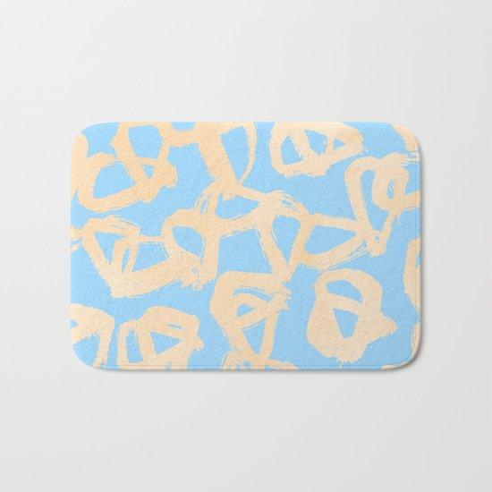 Sweet Life Triangle Dots Orange Sherbet + Blue Raspberry Bath Mat